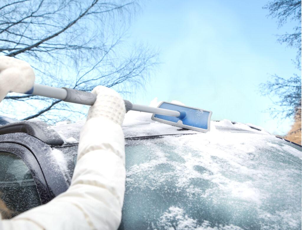 KUNGS Schneeschieber Teleskop